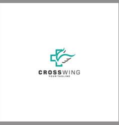 hospital logo template design idea vector image