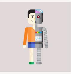 Human droid vector