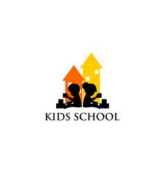 Kids school logo vector