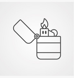 lighter icon sign symbol vector image