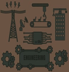 Logo Template Engineering vector image