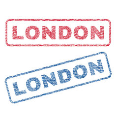 London textile stamps vector