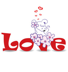 Love mouse vector image