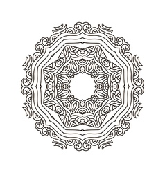 Mandala coloring33 vector