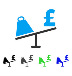 Market pound price swing flat icon vector