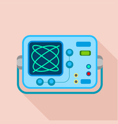 oscilloscope icon flat style vector image