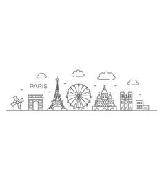 paris line drawing in line vector image