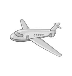 Passenger airliner icon black monochrome style vector image