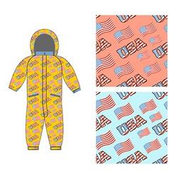 Patriotic children clothing children clothing vector