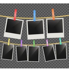 Photo empty frames vector image vector image