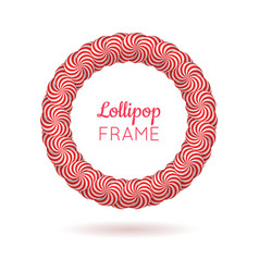 pink frame from lollipops vector image