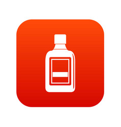 plastic bottle icon digital red vector image