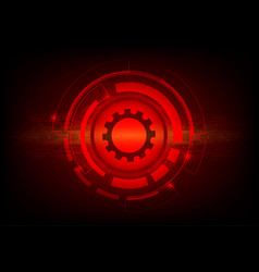 red color abstract background digital technology vector image