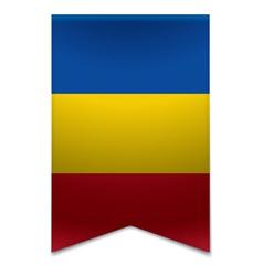 Ribbon banner - moldovan flag vector image