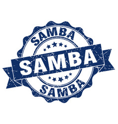 Samba stamp sign seal vector