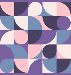 seamless pink-blue abstract geometric print vector image
