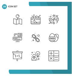 Set 9 commercial outlines pack for hyperlink vector