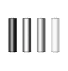 Set alkaline aa batteries for branding isolated vector