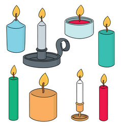 set of candle vector image