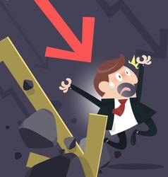 Shares Fall vector image