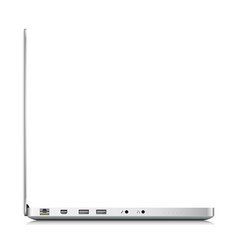 Side view of laptop isolated on white vector