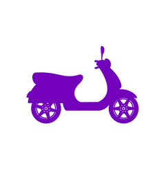 Silhouette of scooter in purple design vector