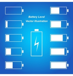 Simple blue battery level vector image