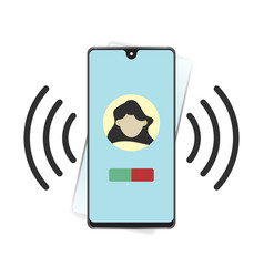 Smartphone or mobile phone ringing or vibrating vector