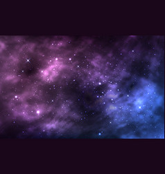 space background realistic cosmos texture starry vector image
