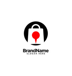 Store location logo design inspiration vector