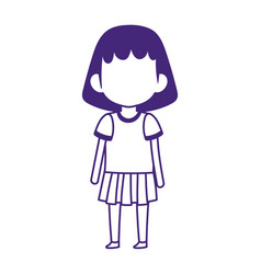 student girl with uniform cartoon isolated design vector image