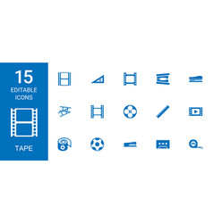 tape icons vector image
