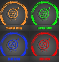 Target icon fashionable modern style in orange vector