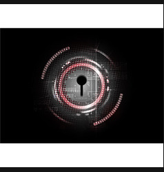 Technological abstract cyber security lock vector