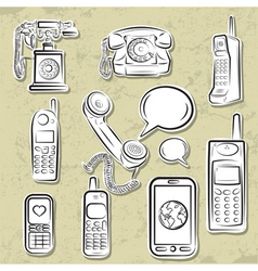Telephones collection vector