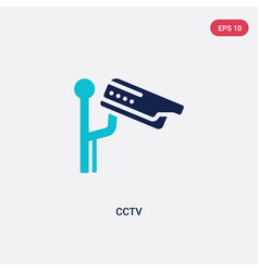 Two color cctv icon from electrian connections vector