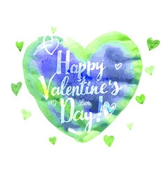Watercolor heart valentine day vector
