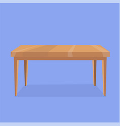 wooden rectangular shaped table vector image