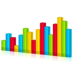 3d shiny graph vector image vector image