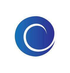 circle wave sign logo vector image vector image