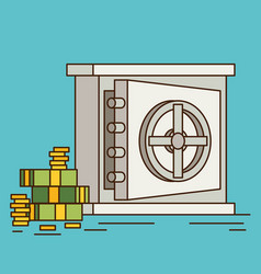eps10 flat concept safe with money vector image vector image