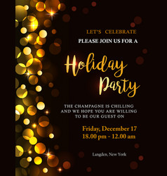Holiday party invitation vector