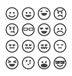 human emotion icon vector image