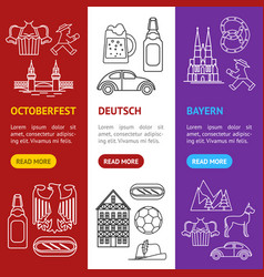symbol of germany thin line icon set vector image vector image