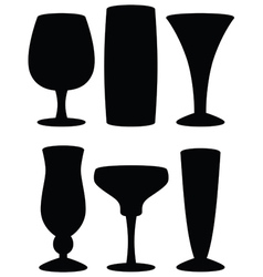 drink glass silhouettes vector image