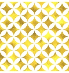 Gold glittering foil seamless pattern vector image vector image