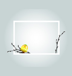white frame with easter motive vector image