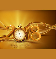 3d gold digits 2018 for the new year vector image