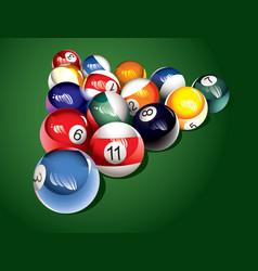 Billiard balls on the table vector