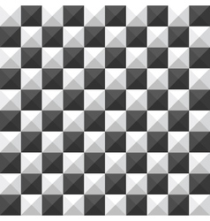 chessboard pyramid seamless pattern vector image vector image